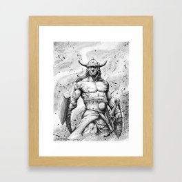 CONAN Robert E. Howard Framed Art Print