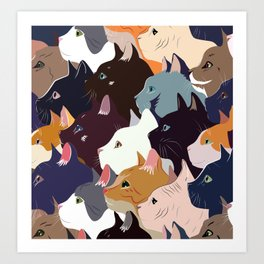 variety of cats Art Print
