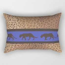 Panthère bleu Rectangular Pillow