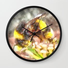 Busy Busy Busy Watercolor Wall Clock