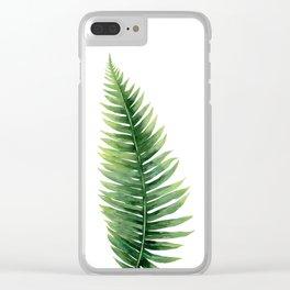 Fern. Clear iPhone Case
