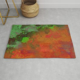 A Difference Of Opinion (Abstract painting) Rug