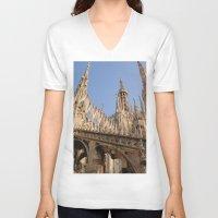 milan V-neck T-shirts featuring Milan by Alan Wong