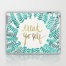 Treat Yo Self – Gold & Turquoise Laptop & iPad Skin