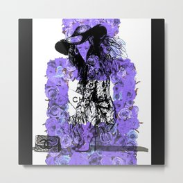 Floral Fashion Purple Metal Print