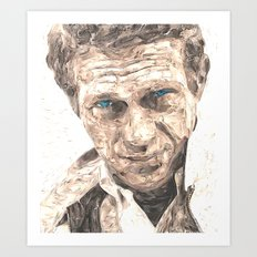 Steve McQueen   Version 2 Art Print