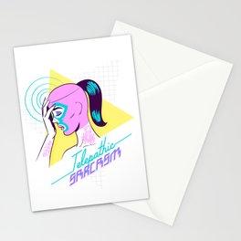 Telepathic sarcasm Stationery Cards