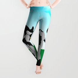 Cow on a meadow Leggings