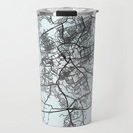 Blackburn, England, White, City, Map Travel Mug