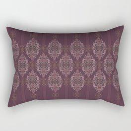 Vintage Burgundy horizontal Rectangular Pillow