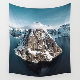 aerial view of the lofoten Wall Tapestry