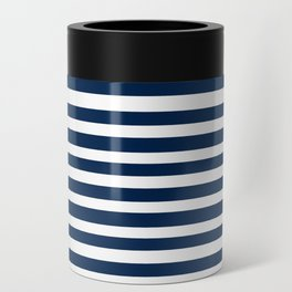 Navy-White ( Stripe Collection ) Can Cooler