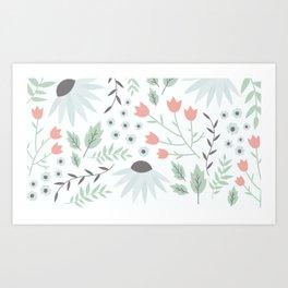 flowers world Art Print