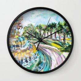 Charleston Pineapple Fountain Wall Clock