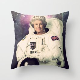 Queen Elizabeth II Throw Pillow