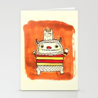 wild things Stationery Cards featuring Wild things by Maria Jose Da Luz