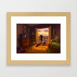 We like the sunset Framed Art Print