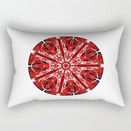 Root Chakra Mandala Rectangular Pillow