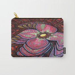 Spinning Flower Mosaic Carry-All Pouch