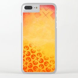 Firery Flowering Clear iPhone Case