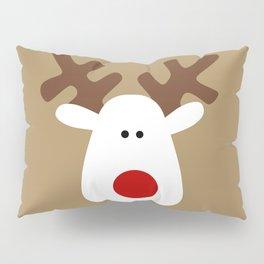 Christmas Reindeer-Brown Pillow Sham