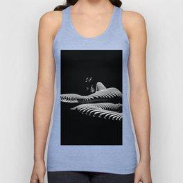 8428-KMA BW Art Nude Abstract Zebra Stripe Woman Long Legs Unisex Tank Top