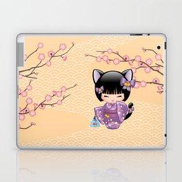 Japanese Neko Kokeshi Doll V2 Laptop & iPad Skin