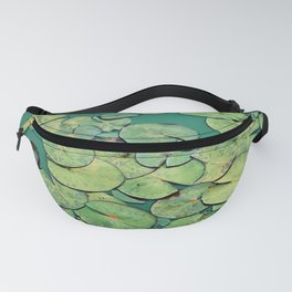 Serene Green Waterlily Fanny Pack