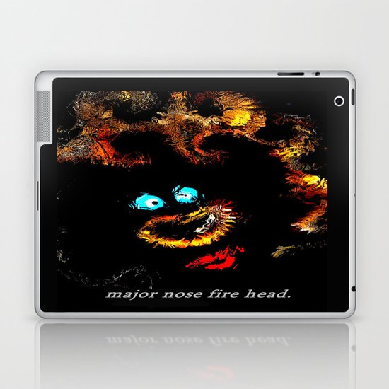 Major nose fire head. Laptop & iPad Skin