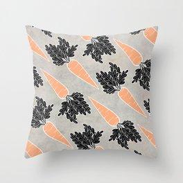 Carrets Throw Pillow