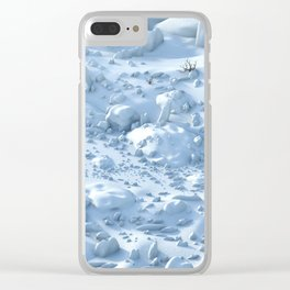 Snow Environment Clear iPhone Case