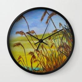 Wheat Field Wall Clock