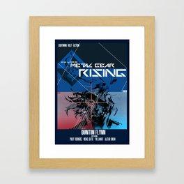 Rising - Metal Gear Framed Art Print