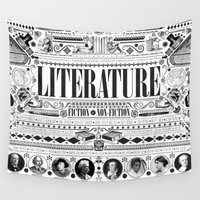 literature Wall Tapestries featuring Literature Poster by Ryan Huddle House of H
