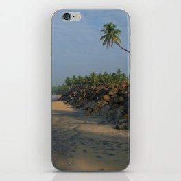 Palm Tree over Black Beach Varkala iPhone Skin