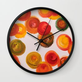 Red Swirls Wall Clock