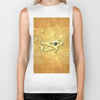 all seeing eye Biker Tanks featuring The all seeing eye by nicky2342