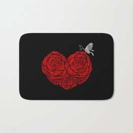 A Butterfly to be, a Rose to blossom... Bath Mat