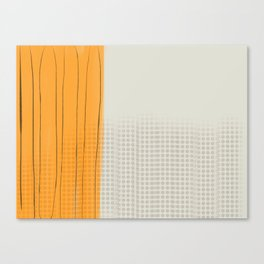 Spots and Stripes orange Canvas Print