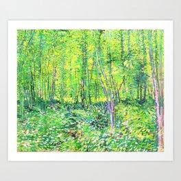 Vincent Van Gogh Trees & UnderwooD Art Print
