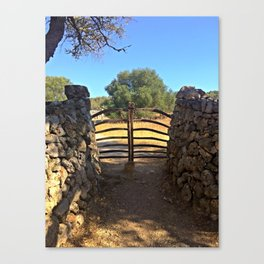 Traditional Menorcan Gate Canvas Print
