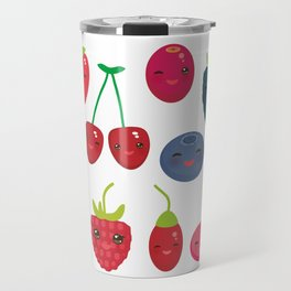 Kawaii Cherry Strawberry Raspberry Blackberry Blueberry Cranberry Cowberry Goji Grape Travel Mug