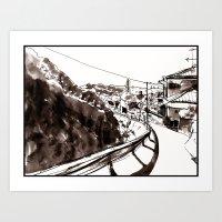 kobe Art Prints featuring Kobe by Jonas Ericson