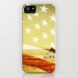 House And Flag Double Exposure iPhone Case