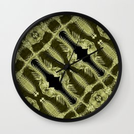Exclusive Ornament Collage Artwork Wall Clock
