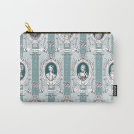 Science Women Toile de Jouy - Teal Carry-All Pouch