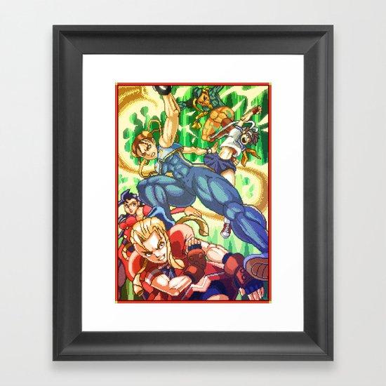 Pixel Art series 17 : Battle ! Framed Art Print