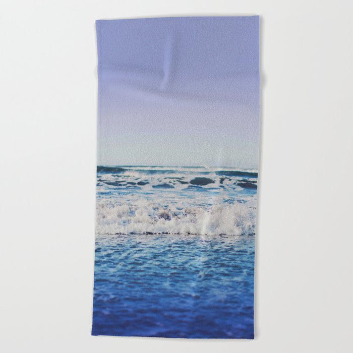Indigo Waves Beach Towel