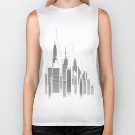 Modern City Buildings And Skyscrapers Sketch, New York Skyline, Wall Art Poster Decor, New York City Biker Tank