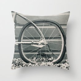 Vintage Bicycle 1 Throw Pillow